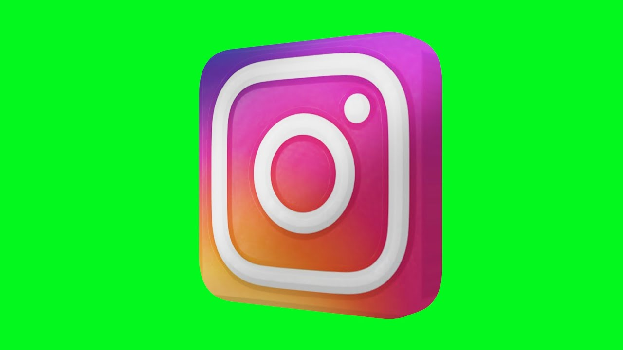 Instagram NEW Logo Green Screen Animated 3D - YouTube