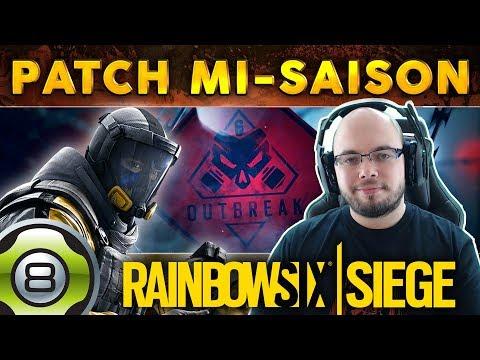 TOUTES LES INFOS PATCH DE MI-SAISON - Opération Outbreak ☢️ - Rainbow Six Siege FR