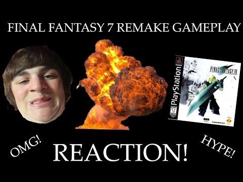 FINAL FANTASY 7 REMAKE GAME PLAY REACTION OMG HYPE! -64BitForLife