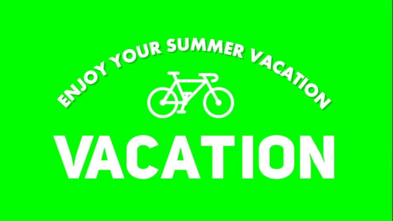 Vacation Green Screen Effect Text - YouTube