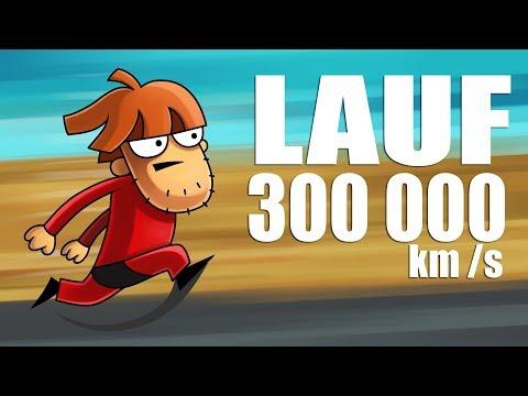 Was wenn du mit Lichtgeschwindigkeit rennen könntest?