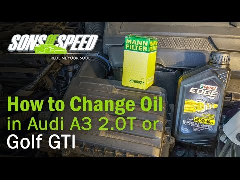 How to Change Oil in 2015+ Audi A3/TT & VW Golf 2.0T FSI | Sons of Speed