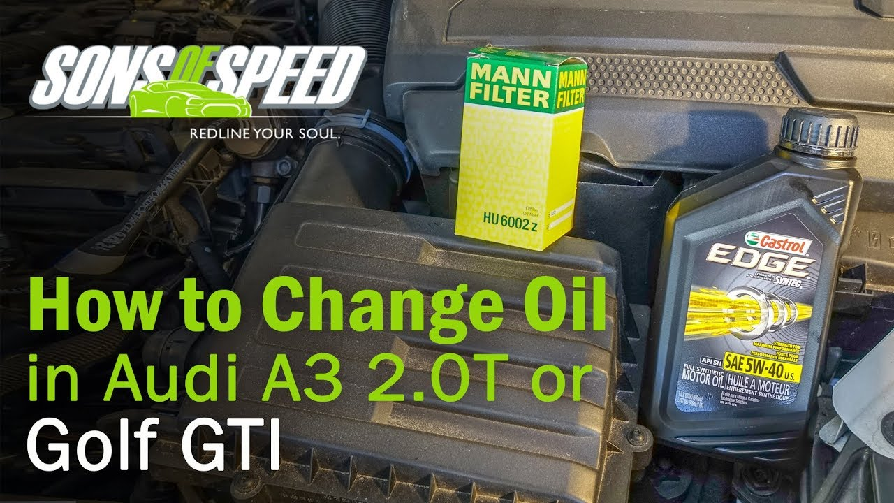 How To Change Oil In 2015 Audi A3 Tt Vw Golf 2 0t Fsi Sons Of