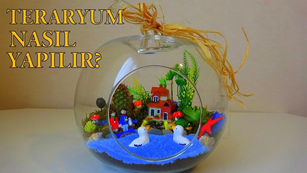 TERARYUM Nasıl Yapılır? - Kendin Yap Minyatür Bahçe - DIY Terrarium