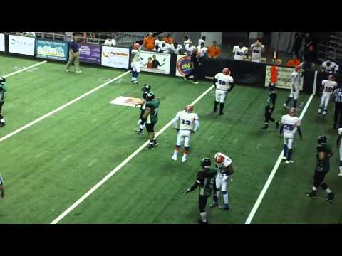 Jared Lorenzen Touchdown Pass to Ricardo Lenhart for Nothern Kentucky River Monsters