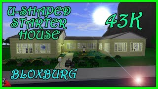 Welcome To Bloxburg - U-Shaped Starter House-43K [ SpeedBuild ] Roblox