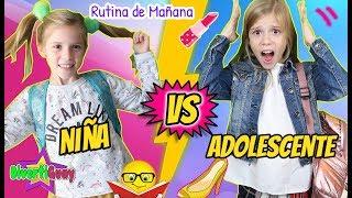 RUTINA DE MAÑANA DE COLEGIO ¡¡Niños Vs Adolescentes!! en la Escuela