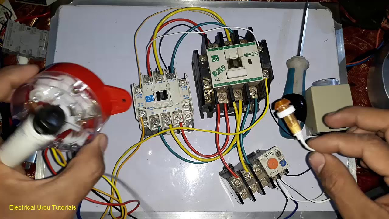 3 phase washing machine motor wiring with 6 wire timer urdu hindi  [ 1280 x 720 Pixel ]