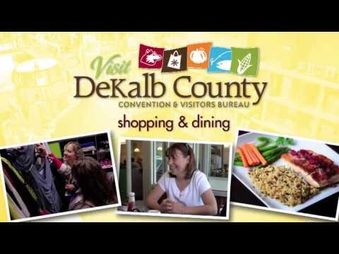 "DeKalb County Convention & Visitor's Bureau ""Shopping and Dining"""