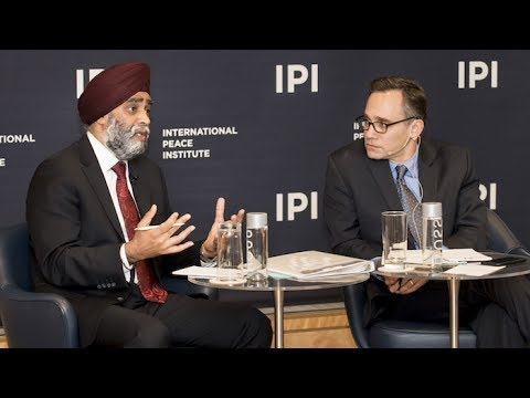 The Honourable Harjit Singh Sajjan, Minister of National Defence of Canada Speaks at IPI