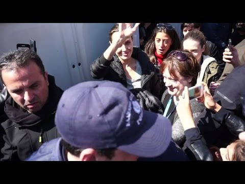Angelina Jolie visits Lesbos refugee camp