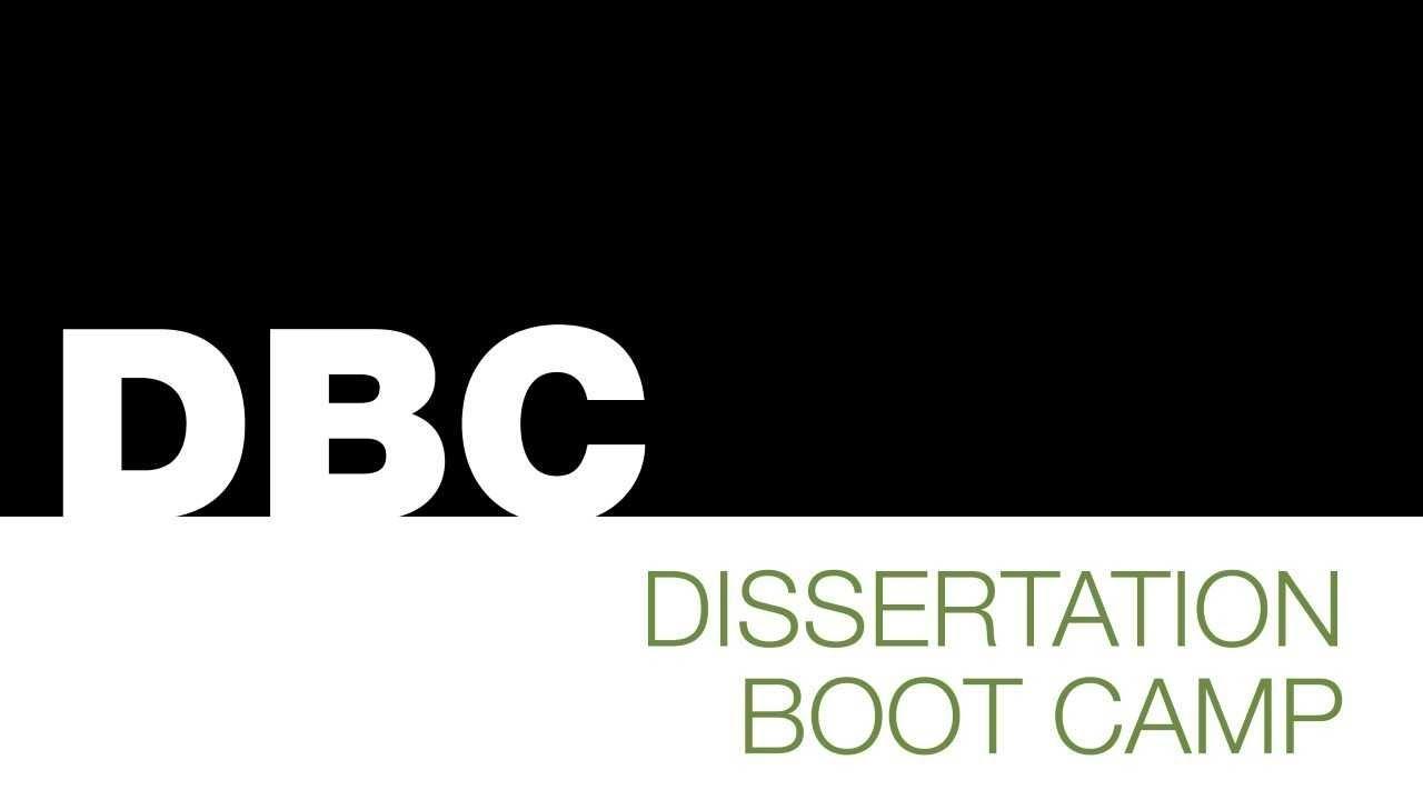 Dissertation boot camp unc