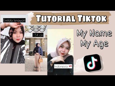Cara Membuat Tiktok My Name My Age Cara Menambah Tulisan Untuk Tiktok Pemula Tiktokers Pemula Youtube