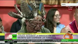 Lenín Moreno propone un nuevo decreto y el movimiento indígena insiste en derogar el 883