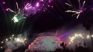 The Great Stupa Bendigo, Illumin8 festival fireworks and light display 19/05/2018