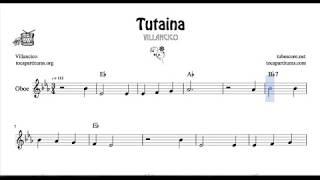 Tutaina Partitura de Oboe Villancico