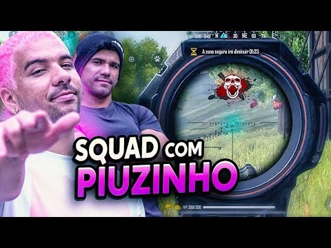 FREE FIRE com PIUZINHO! SQUAD INSANO do FInal Level!