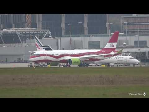 "[Full HD] Airbus A220-300, airBaltic livrée ""Latvia's 100th anniversary"", YL-CSL"