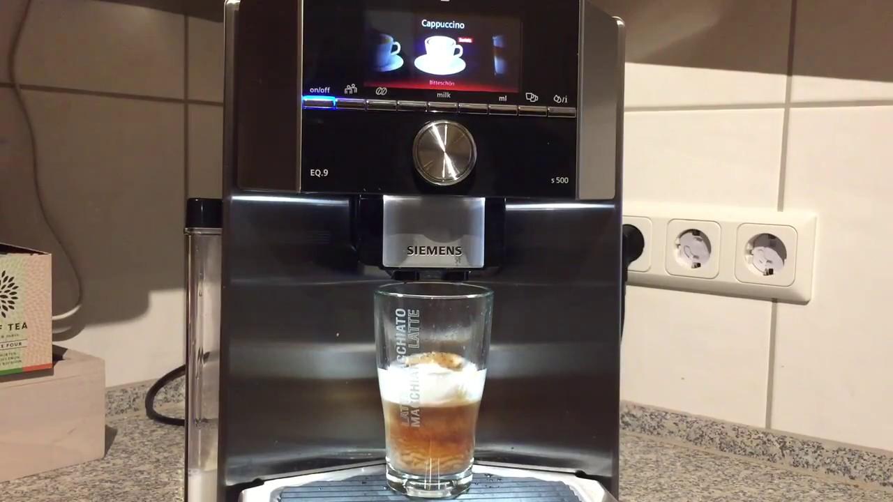 Getranke Zubereitung Mit Dem Kaffeevollautomaten Siemens Eq 9 S500