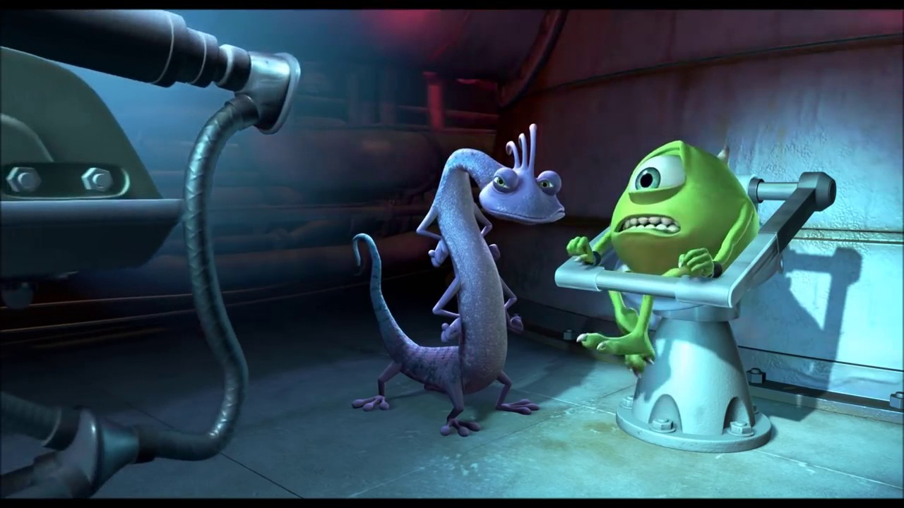 Monsters Inc Randall Tries To Use The Scream Extractor On Mike Youtube