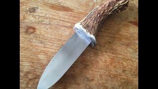 hidden tang knife w/ antler handle