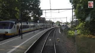 Meerijden met de machinist van Baarn naar Utrecht. (zonder snelheidsmeter)