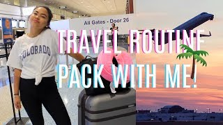 PACK WITH ME FOR VACATION | TRAVEL ROUTINE + OUTFIT,  CARRY-ON & TIPS!