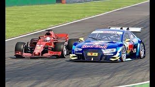 Ferrari F1 2018 vs DTM Audi RS5 -  Monza