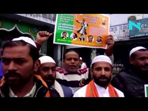 Gorakpur: Poster projects Adityanath as warrior, Owaisi, Rahul and Kejriwal unhappy