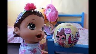 LOL NÍVEL MÁXIMO DE FOFURA MUDA TODA DE COR LIL SISTER SÉRIE 3 BABY ALIVE AMANDINHA.