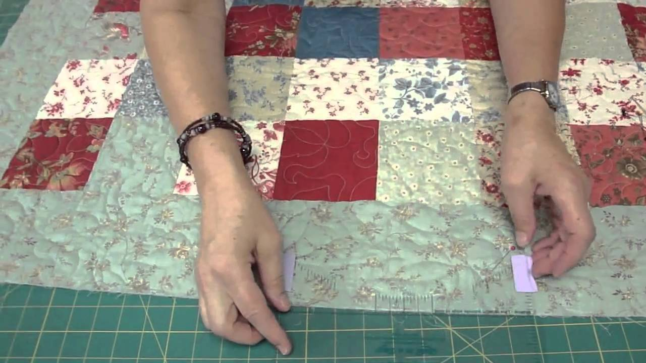 How to make a scalloped edge on a quilt youtube how to make a scalloped edge on a quilt maxwellsz