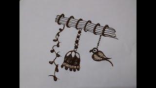 Simple Parrot Mehndi Design