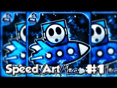 Speed Art - Geometry Dash Profile Picture - GDarkHeaven