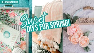 SPRING DIY ROOM DECOR 🌸 Easy Tray, Blanket & Wreath