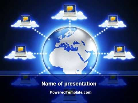 Cloud Computing PowerPoint Template By PoweredTemplate.com