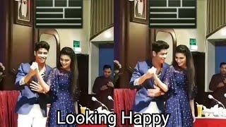 Both Priya prakash and Roshan abdul Doing Dance Looking Happy