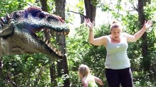 Realistic T-Rex Attack Prank
