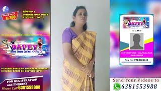 DAVEY 2020   VTD2020046   LALLITHARA BAI.R   AAMBUR   ONLINE SINGING CONTEST   ROUND 1