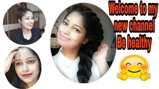 Welcome to my third channel Be healthy India| Giveaway and special surprise