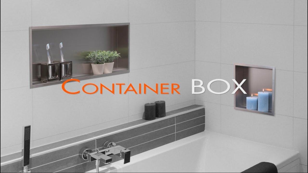 wandnische einbau im badezimmer (nassbau) - container box [deutsch, Badezimmer