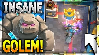 insane new golem deck w no legendary cards new personal best in legendary arena 11 clash royale