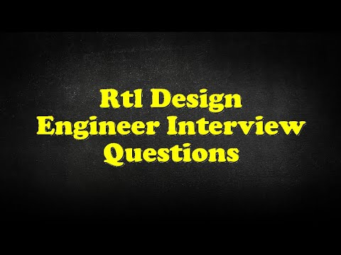 Rtl Design Engineer Interview Questions Youtube