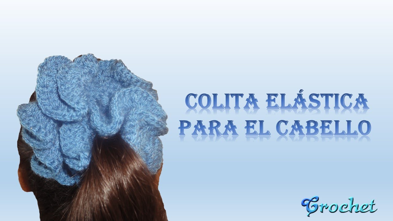 38be50609358 Colita - dona elástica crochet (ganchillo) para el cabello