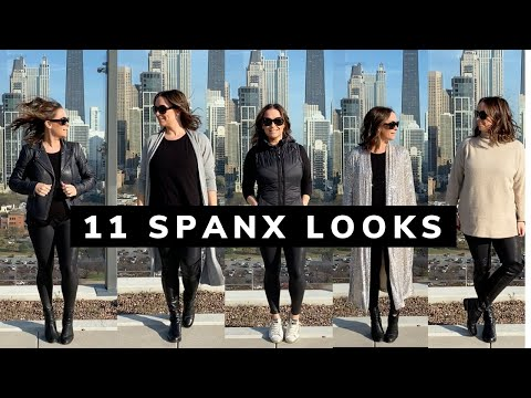 11 Outfits with Spanx Faux Leather Leggings | Chicago Style Icon