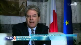 Il ministro degli Affari Esteri Paolo Gentiloni commenta su Tv2000 il discorso di Papa Francesco