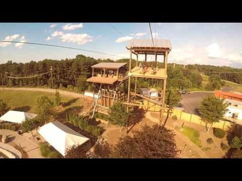 Double Down Ziplines At The U.S. National Whitewater Center In Charlotte, NC