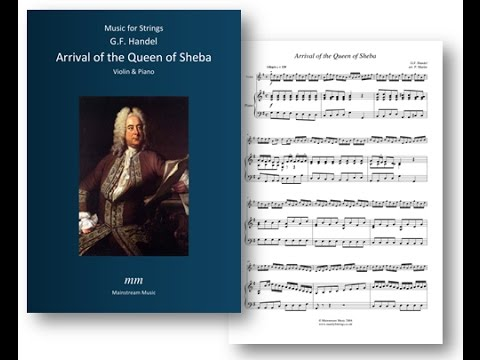 Arrival of the Queen of Sheba - Violin and Piano