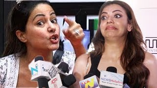 kajal agarwal angry reaction on hina khan comment on south indian actress
