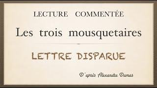 Урок французского языка.Lettre disparue. Les trois Mousquetaires.