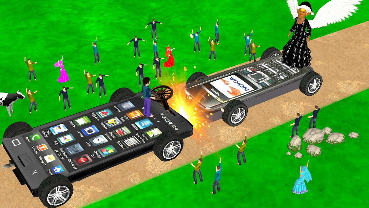 फ़ोन कार की लड़ाई Kahani 3D Hindi Kahaniya Mobile Phone Car Bed Time Stories हिंदी कहानिया